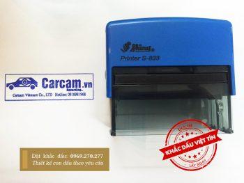Dấu cửa hàng Carcam.com kèm logo