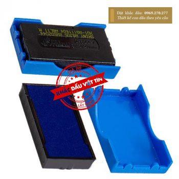 Tampon dấu Shiny S-822-7 màu xanh