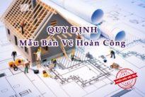 quy định về mẫu bản vẽ hoàn công trong ngành xây dựng