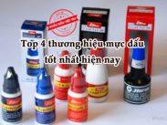 Top 4 thương hiệu mực dấu tốt nhất: Shiny, Trodat, Hores, Noris